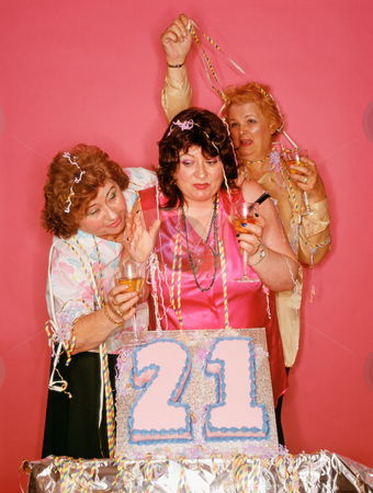 MPIXIS550743 stock photo, Senior women celebrating birthday by Mpixis World