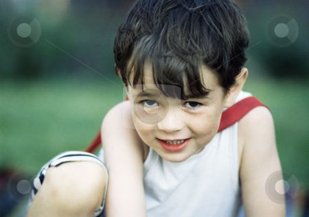 Little boy stock photo, Cheeky boy by Mpixis World