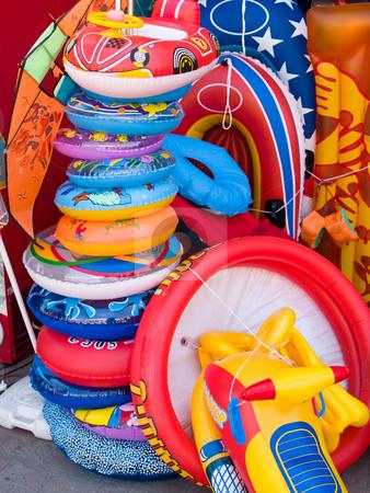 Lifebuoy stock photo, Lifebuoy boats, kites children toys by Adrian Costea