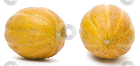 Yellow melon  stock photo, Yellow melon isolated on white background by Adrian Costea