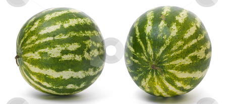 Watermelon view stock photo, Yellow melon isolated on white background by Adrian Costea