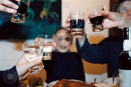Toast stock photo, Raising a toast by Mpixis World