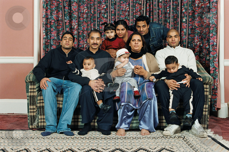 MPIXIS550953 stock photo, Portrait of a large family by Mpixis World