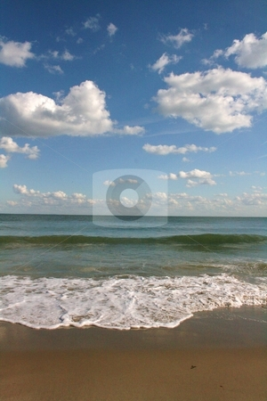 Tide stock photo, Seaside landscape by Louise Blankley