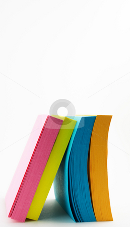 Post-it Notes  stock photo, Post-it notes stacked isloated on white by Robert Cabrera
