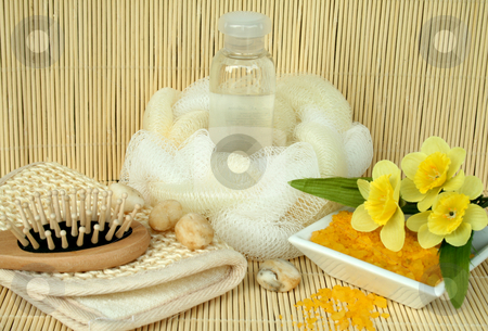Cream and soap for washing stock photo, Cream and soap for washing by Tatiana Grinberg