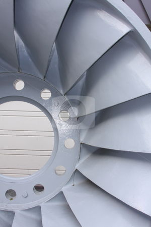 Hydro Electric Turbine Blades stock photo, Turbine blades from a  hydroelectric dam. by Steve Stedman