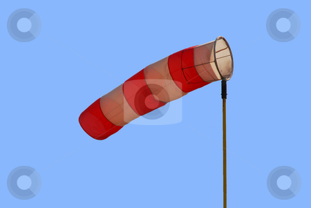 Wind funnel stock photo, A wind funnel showing wind direction and strength by Ivan Paunovic