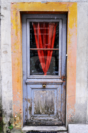 Old door stock photo, The door of an old house, taken in Neuch???tel, Switzerland by Emmanuel Keller