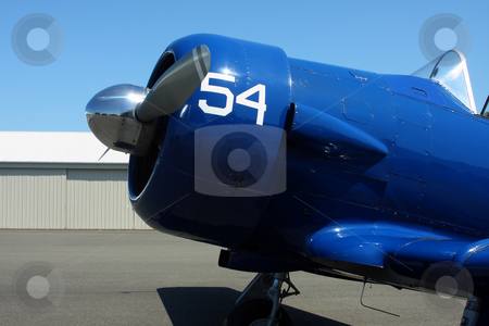 Air show Airplane stock photo, An airplane from an air museum. by Steve Stedman