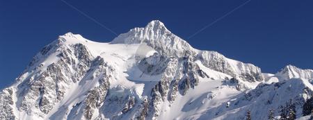 Mt Shuksan stock photo, Mt Shuksan in the from the Mt Baker Ski area. by Steve Stedman