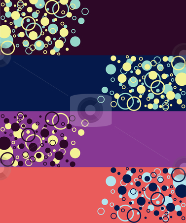 Banner Bubbles stock vector clipart, Banners with Bubbles by Stephanie Soon