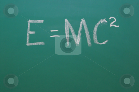 Chalkboard stock photo, A Chalkboard with Einstien's theory of relativity. by Robert Byron