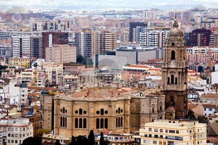 View To Malaga stock photo, View To Malaga, Andalusia, Spain by Vitaly Sokolovskiy