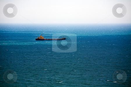 Cargo ship stock photo, Cargo ship in Mediterranean Sea, Spain by Vitaly Sokolovskiy
