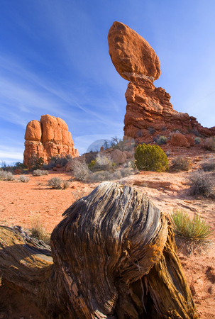 Balanced Rock stock photo, Balanced Rock in Arches National PArk near Moab Utah by Mike Dawson