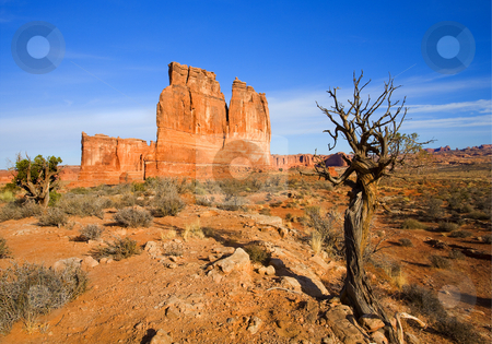 Tower of Babel stock photo, The Tower of Babel in Arches NAtional PArk near Moab, Utah. by Mike Dawson