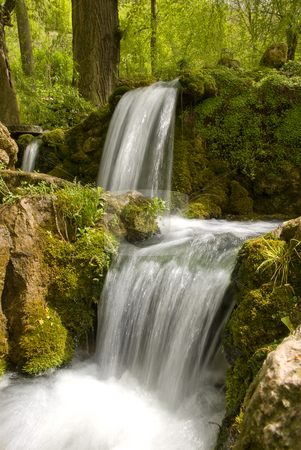 Spring water stock photo, Small waterfall with a clear drinking water by Ivan Paunovic