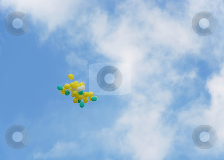 Balloons stock photo, A bunch of a balloons flying up by Ivan Paunovic