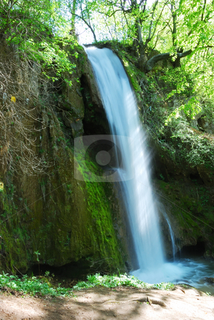 Waterfall stock photo, A waterfall surrounded with rocks and plants by Ivan Paunovic