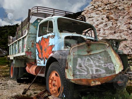Rundown truck stock photo, Rest in time by John Tsilidis