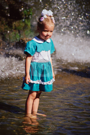 MPIXIS550215 stock photo, Girl standing in the water by Mpixis World