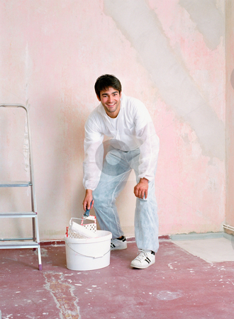 MPIXIS574032 stock photo, Man decorating a room by Mpixis World