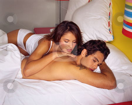 MPIXIS590017 stock photo, Young couple in bed by Mpixis World