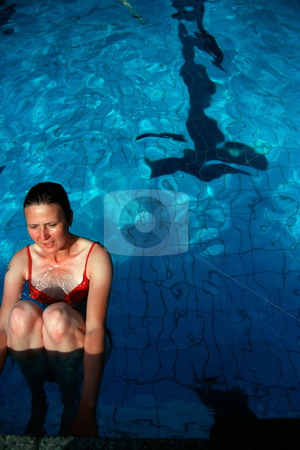 MPIXIS601029 stock photo, Female swimmer in pool by Mpixis World