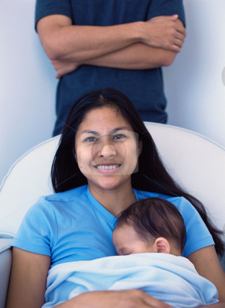 MPIXIS589018 stock photo, Mother with sleeping baby by Mpixis World