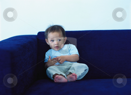 MPIXIS589058 stock photo, Baby on sofa by Mpixis World
