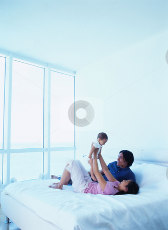 MPIXIS589002 stock photo, Young parents with baby by Mpixis World