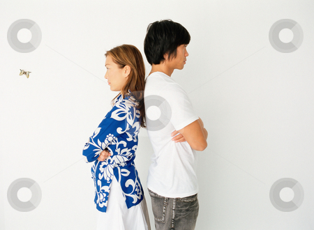 MPIXIS587006 stock photo, Couple standing back to back by Mpixis World