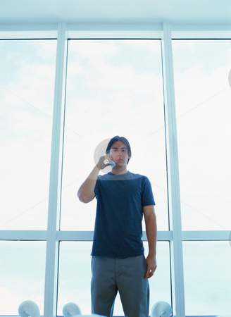 MPIXIS589008 stock photo, Man using a cellular telephone by Mpixis World