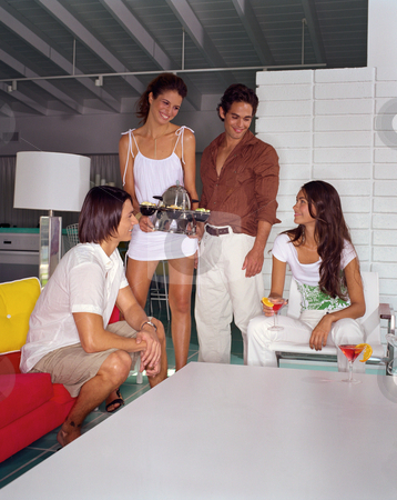 MPIXIS590038 stock photo, Group of friends socialising by Mpixis World
