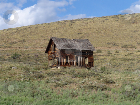 Ghost Town stock photo, Dilapidated house near Winthrop WA, USA. by Steve Stedman