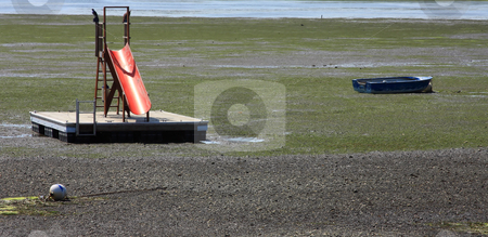 Beach Toys stock photo, Boats at low tide by Steve Stedman