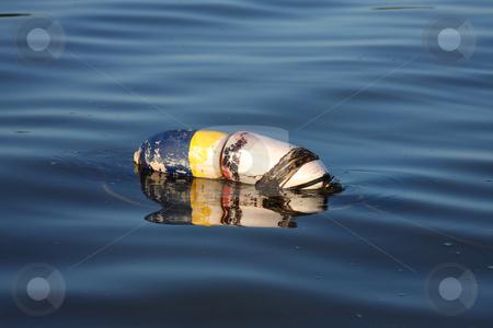 Buoy Floating stock photo, Crab or lobster buoy floating. by Steve Stedman