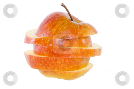 Sliced Apple stock photo, Sliced apple - healthy eating - vegetables - close up by Petr Koudelka