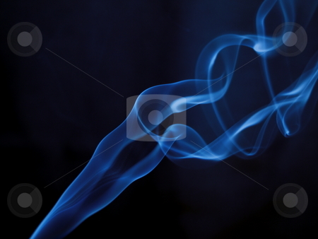Blue Smoke Trail stock photo, This photo was taken using my Olympus E-410. by ANDREW NORRIS