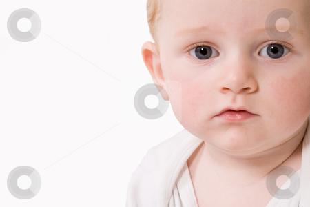 Landscape child stock photo, Cute caucasian blond toddler ishappy and playfull by Frenk and Danielle Kaufmann