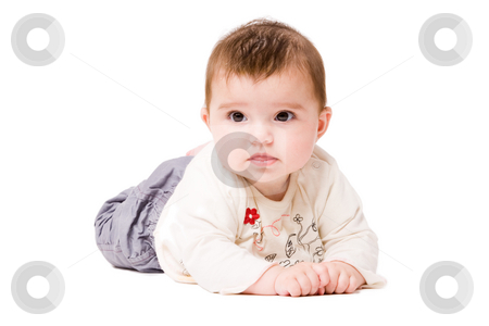 Waiting baby stock photo, Cute asian baby is happy and playfull by Frenk and Danielle Kaufmann