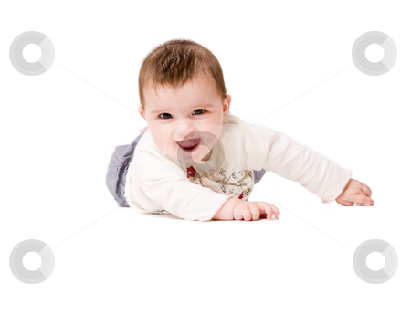Enthusiastic baby stock photo, Cute asian baby is happy and playfull by Frenk and Danielle Kaufmann
