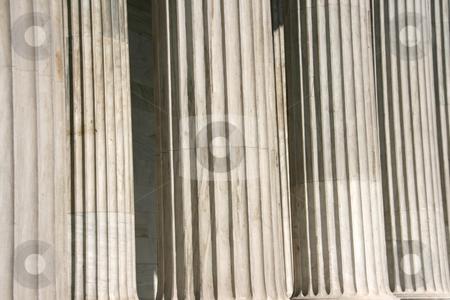 Corinthian pillars stock photo, Marble corinthian pillars detail for texture or background use by EVANGELOS THOMAIDIS