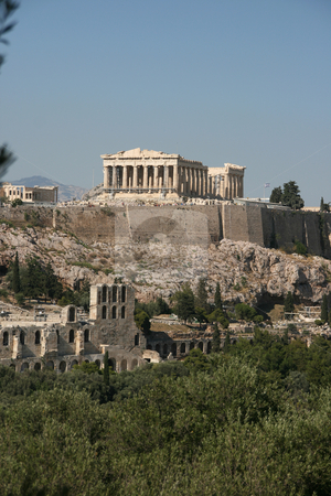 Nature and parthenon stock photo, Nature and parthenon landmarks of athens greece europe by EVANGELOS THOMAIDIS