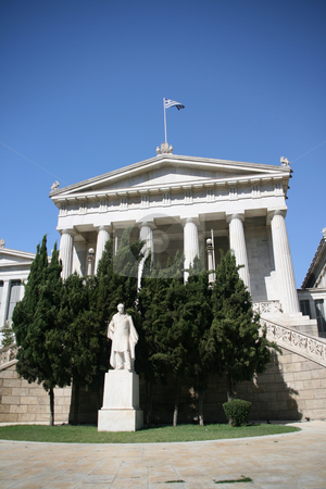 University entrance stock photo, The old univercity of athens greece entrance by EVANGELOS THOMAIDIS