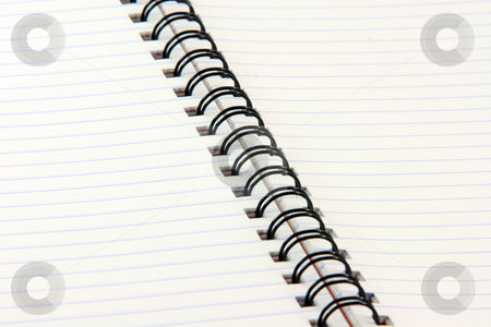 Notebook spiral stock photo, Detail from spiral notebook for background use business concepts by EVANGELOS THOMAIDIS