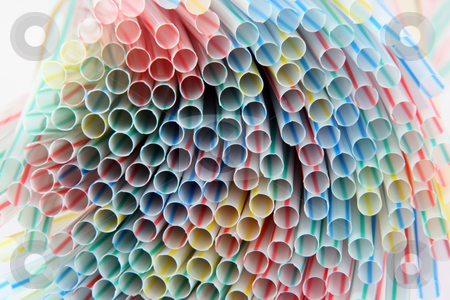 Colorful texture stock photo, Texture from multicolor straws for  background celebration concepts by EVANGELOS THOMAIDIS