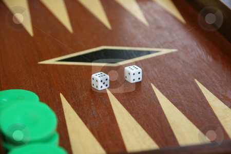 Backgammon stock photo, Backgammon game detail dices on double six by EVANGELOS THOMAIDIS