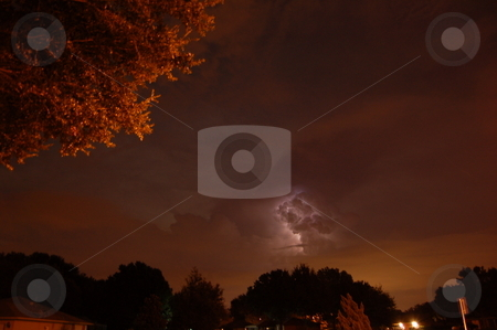 Lightning before Fay stock photo, Lightning strikes hours before Tropical storm Fay reaches Florida by M.R. Lord